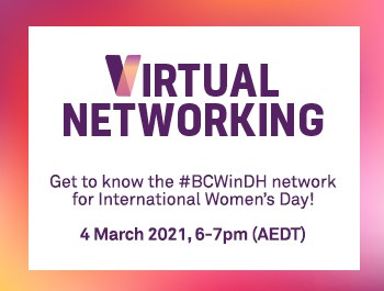 Event: #BCWinDH virtual networking for International Women's Day