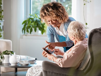 The role of digital technologies to create a positive experience of care and caregiving in aged care